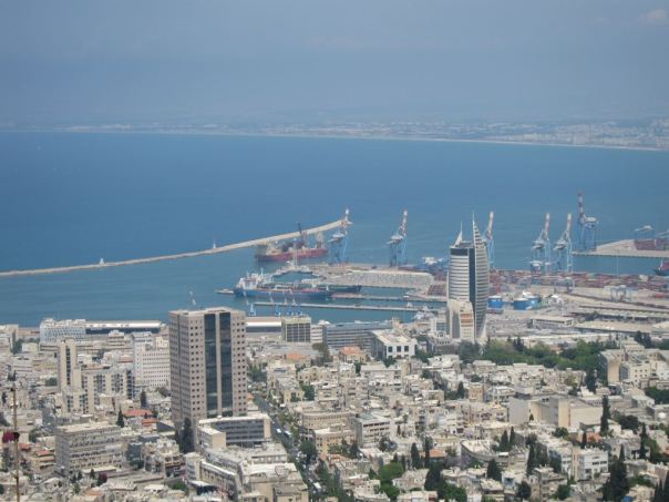 Helix ESG's reeled pipelay vessel, Express, at the port city of Haifa, Israel.